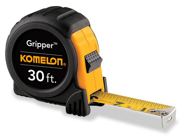 Black Komelon USA Komelon 5430 Gripper Acrylic Coated Steel Blade 30-Foot by 1-Inch